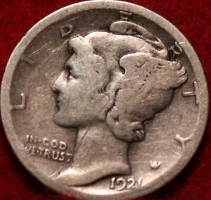 1921-D Denver Mint Silver Mercury Dime
