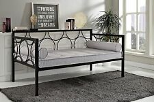 Metal Day Bed Twin Size Daybed Frame Black Color Bedroom Furniture New