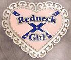"New! Western Express HEART-SHAPED 'REDNECK GIRL' BELT BUCKLE Fits 1 3/4"" belts"