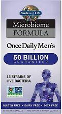 Jardín de la vida Microbiome una vez al día para hombres 30 Cápsulas