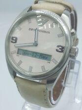 Emporio Armani AR0520 men's watch ana/digi white  AR-0520 analog 5 ATM