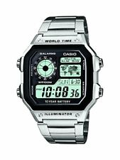 Casio Collection – Reloj Hombre Correa de Acero Inoxidable AE-1200WHD-1AV