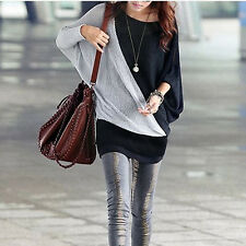 Women Ladies Casual Loose Batwing Long Sleeve T-Shirt Pullover Tunic Tops Blouse