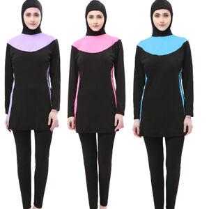 Muslim Women Swimwear Full Cover Modest Arab Swimsuit Islamic Beachwear Burkini