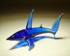 "Blown Glass Figurine  ""Murano"" Art Small Blue Fish SHARK"