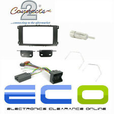 Ford Mondeo MK4 Auto Estéreo Negro Doble Din Fascia & interfaz de volante