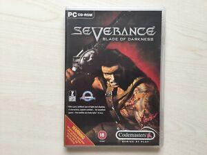 Severance: Blade of Darkness PC CD-Rom UK PAL