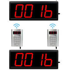 Restaurant Cafe LED Display Wireless Calling Number System Multiple Working Mode