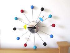NIB Manhattan Home Design George Nelson Vitra Multi Color Ball Replica Clock