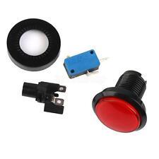 Kunststoff LED Taster Aktionstaster Rot mit Mikroschalter für Arcade Game