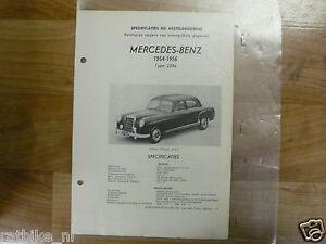 ME08-MERCEDES-BENZ TYPE 220A 1954-1956 -TECHNICAL INFO SEDAN OLDTIMER
