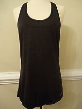 Beautiful Charcoal Grey HEAD Small Tennis Yoga Sports Diamond Tank Top Shirt NWT
