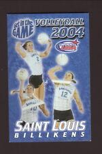St Louis Billikens--2004 Volleyball Pocket Schedule