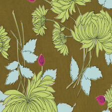Amy Butler Belle Chrysanthemum Fabric in Olive PWAB115 100% Cotton