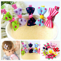 10pcs Baby Hairpins Cute Ribbon Bow Kids Hair Clip Children Hair Accessories New