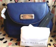 Auth. Marc By Marc Jacobs Q Mini Natasha azul oscuro Cuero Cartera Bandolera ❤
