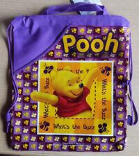 WINNIE the Pooh/THE POOH * Bambini-Borsa Zaino * * viola * turn bustina * Disney * nuovo
