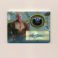 2018 Topps WWE Legends Hall of Fame Ring Auto Ric Flair /50 Silver