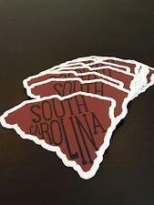 South Carolina Sticker - Gamecock Garnet And Black - 4 Inches