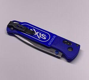 Benchmade Bugout CPM-S30V Plain Edge Blue Handle Folding Knife Folder - 535