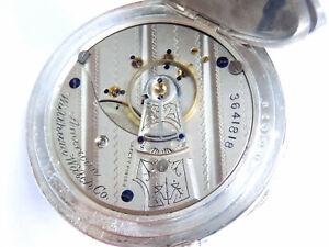 Antike Waltham  Taschenuhr  Kaliber 15 um 1888,  echte  Silber