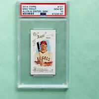 2014 Topps Allen & Ginter Mini # 101 Mike Trout PSA 10 Gem Mint