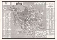 MAP ANTIQUE FORNARI 1866 ROME CITY PLAN OLD LARGE REPLICA POSTER PRINT PAM0901