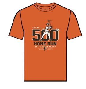 Eddie Murray 25th Anniversary 500th HR TShirt Med  Baltimore Orioles SGA 9/6/21