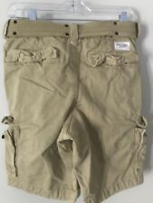 NWT VINTAGE ABERCROMBIE & FITCH MENS CARGO SHORTS BELT SZ 26 NEW WITH TAGS