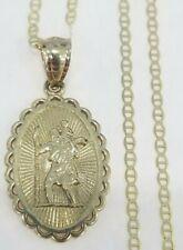 10k Yellow Gold Saint Christopher Pendant Charm