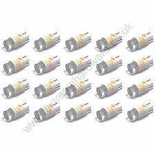 20 x Yellow 5v 10mm T10 Wedge Base LED Bulbs for Arcade Push Buttons - MAME