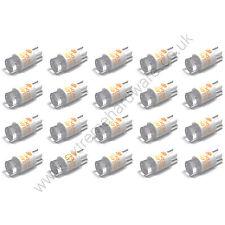 20 X Amarillo 5v 10mm T10 Bombillas Led Base Cuña Para Pulsadores-Mame Arcade