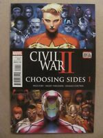 Civil War II Choosing Sides #1 2 3 4 5 6 Complete Set Marvel 2017 Series 9.6 NM+