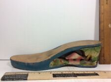 Vtg 1940'S Hand Carved Wooden High Heel Shoe Tropical Island Hut Shack Palm Tree
