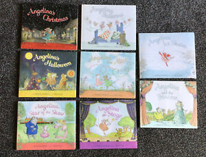 angelina ballerina books x 8 Pre Owned