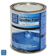 GM Cars Aqua / Black Trunk Splatter Paint - Professional Quality - Quart