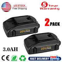 2x For Worx 20V 3.0Ah Lithium-ion Battery WG546 WA3525 WA3520 Cordless WA3578
