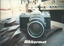 Brochure pubblicitaria Nikkormat Nikon  - anni '70  Macchina Fotografica