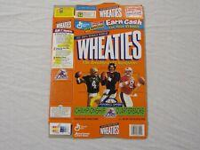 JOHN ELWAY BRETT FAVRE STEVE YOUNG QB Club Wheaties Cereal Box (Flat) 1998