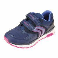 Geox Pavel Girls Navy-Purple Trainer size eu kids children hook loop