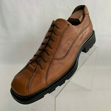 Kenneth Cole New York Oxford Bike Toe Caramel Leather Lace Up Shoes Size 12