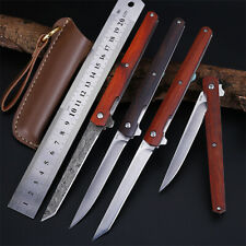 232# Camping Hunting Tactical Survival Folding Knife Pocket Knife Leather Sheath