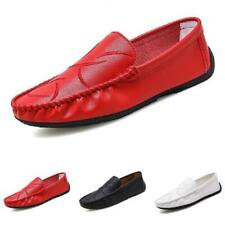 Mens Driving Moccasins Shoes Pumps Slip on Loafers Soft Comfy Breathable Flats D