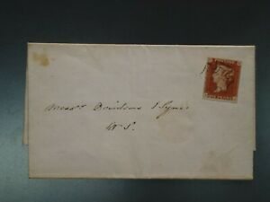 """G.B. -  1841 1d """"BLACK"""" PLATE 10 WITH 4 MARGINS FINE USED ON ENTIRE (CVR.A1)"""