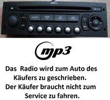 Original Autoradio MP3 PEUGEOT 207 307 807 PARTNER CITROEN C2 C3 C8 BERLINGO