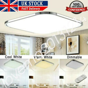 ⭐⭐⭐⭐RGB LED Ceiling Down Light Square Panel Living Room Bedroom Lamp Dimmable MA