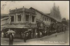 More details for ceylon. sri lanka. castle hill street, kandy - vintage r photo postcard by plâté