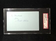 FRED SHERO SIGNED 3X5 INDEX CARD SGC AUTHENTICATED NEW YORKR ANGERS FLYERS