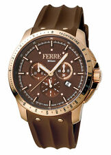 Ferre Milano Men's FM1G078P0021 Chronograph Rose-Gold IP Silicone Date Watch