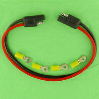 """12 Gauge 10"""" Inch Quick Connect Disconnect SAE Wire Harness, 2 Pin Polarized 12V"""